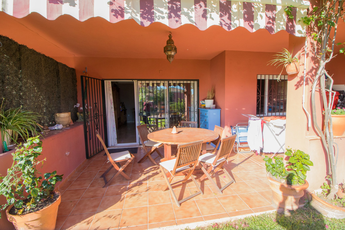 This spacious 2-bedroom apartment (98m2 + 25m2) in Manilva Gardens has a large terrace that goes dir, Spain