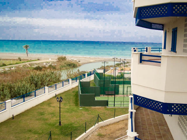 Frontline beach: Beautiful 1-bedroom apartment with breath-taking panoramic sea views in the prestig,Spain