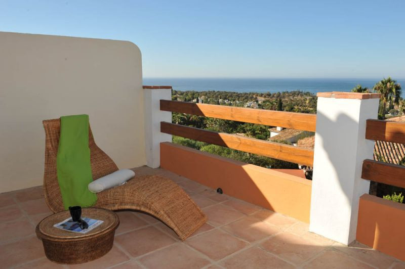 Townhouse with panoramic sea views situated in a closed community in a peaceful area surrounded by n, Spain