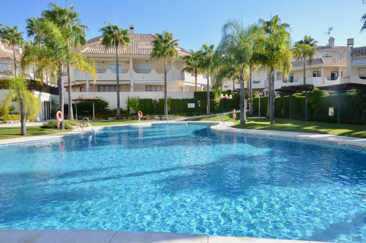 FANTASTIC TOWNHOUSE IN A FRONT-LINE BEACH DEVELOPMENT LOCATED IN LAS CHAPAS DE MARBELLA  This charmi, Spain