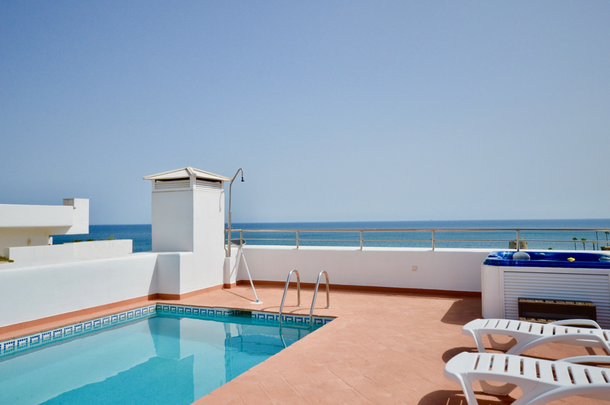 A truly magnificent front-line beach penthouse with stunning panoramic views to the Mediterranean se, Spain