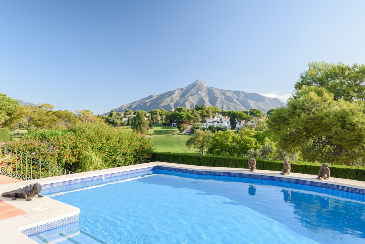 Frontline Aloha Golf 6 bedroom, 5 bathroom villa with Andalucia charm and a contemporary flair. With,Spain