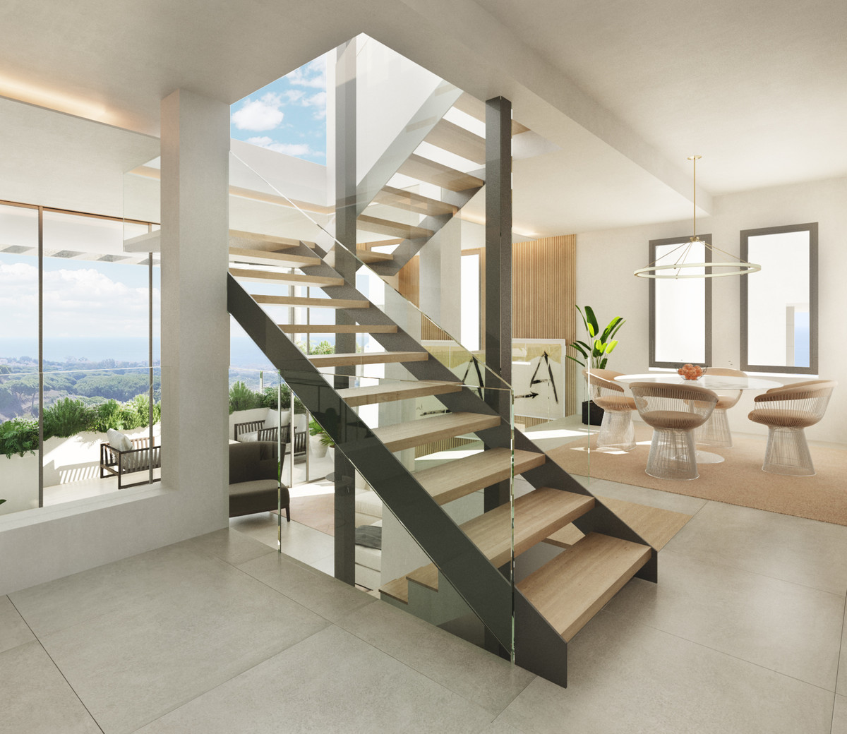 The living room is designed to ensure wellbeing and offers ease and elegance with a clear ceiling he,Spain