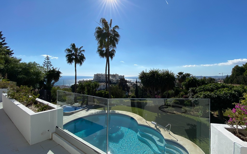 An outstanding, recently renovated villa with stunning views to the coast and Mediterranean sea, on ,Spain