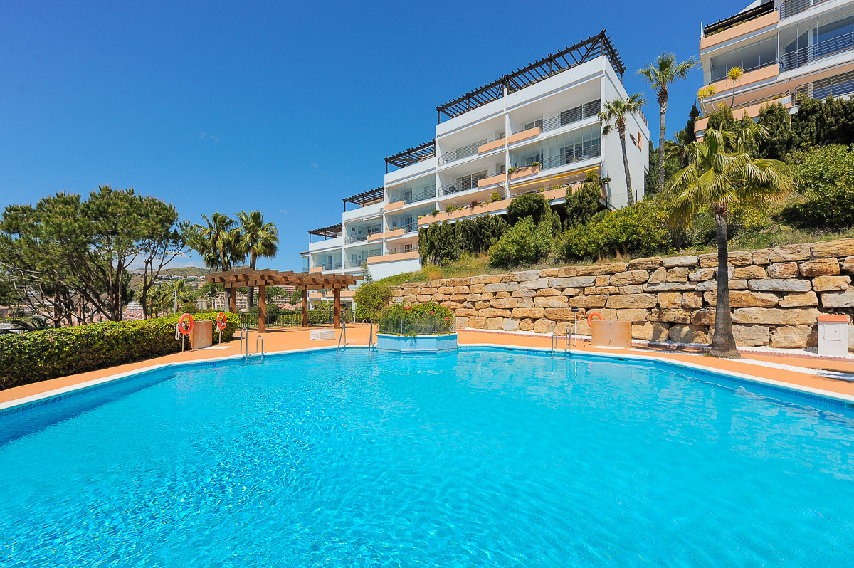 This is a delightful apartment inside the well maintained and gated complex, Altos de Miraflores in , Spain