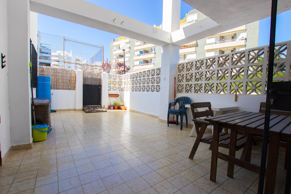 This ground floor apartment, located on the Benalmadena Costa, consists of 2 bedrooms, one bathroom,, Spain