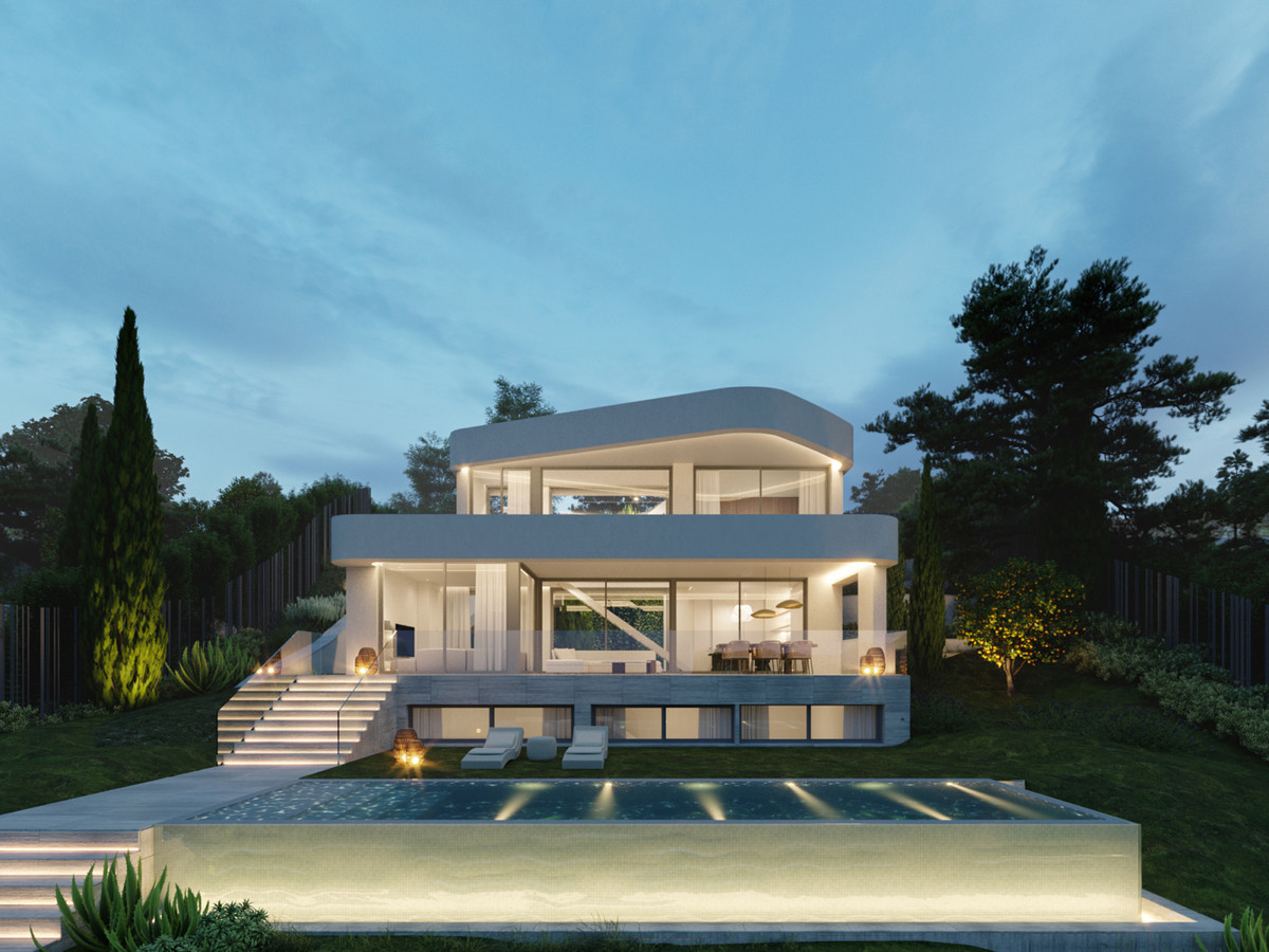 Very private contemporary villa with golf views located in a prestigious golf area in Estepona, just, Spain