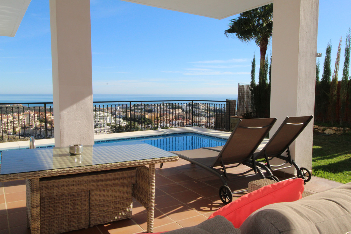 Beautiful family villa with breathtaking panoramic views of the sea and mountains.   The house has a,Spain