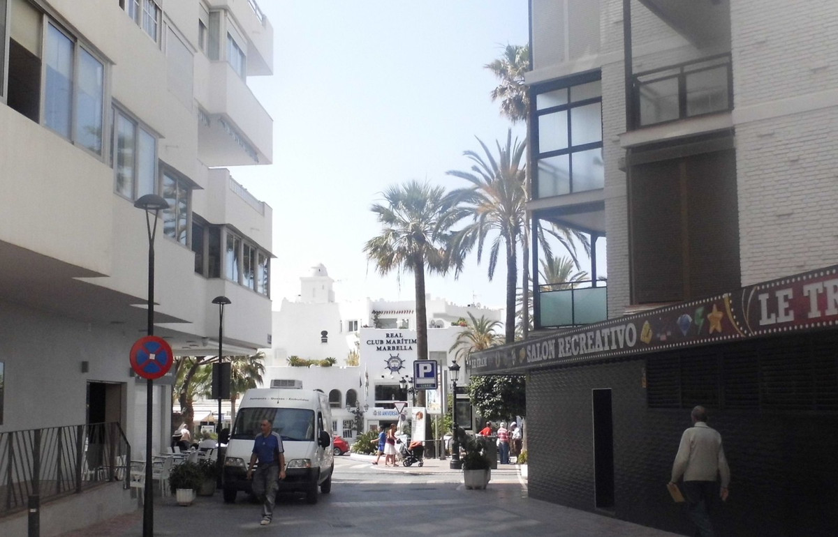 West facing 2 bedroom apartment steps from the Puerto Deportivo, promenade and beaches in Marbella. , Spain