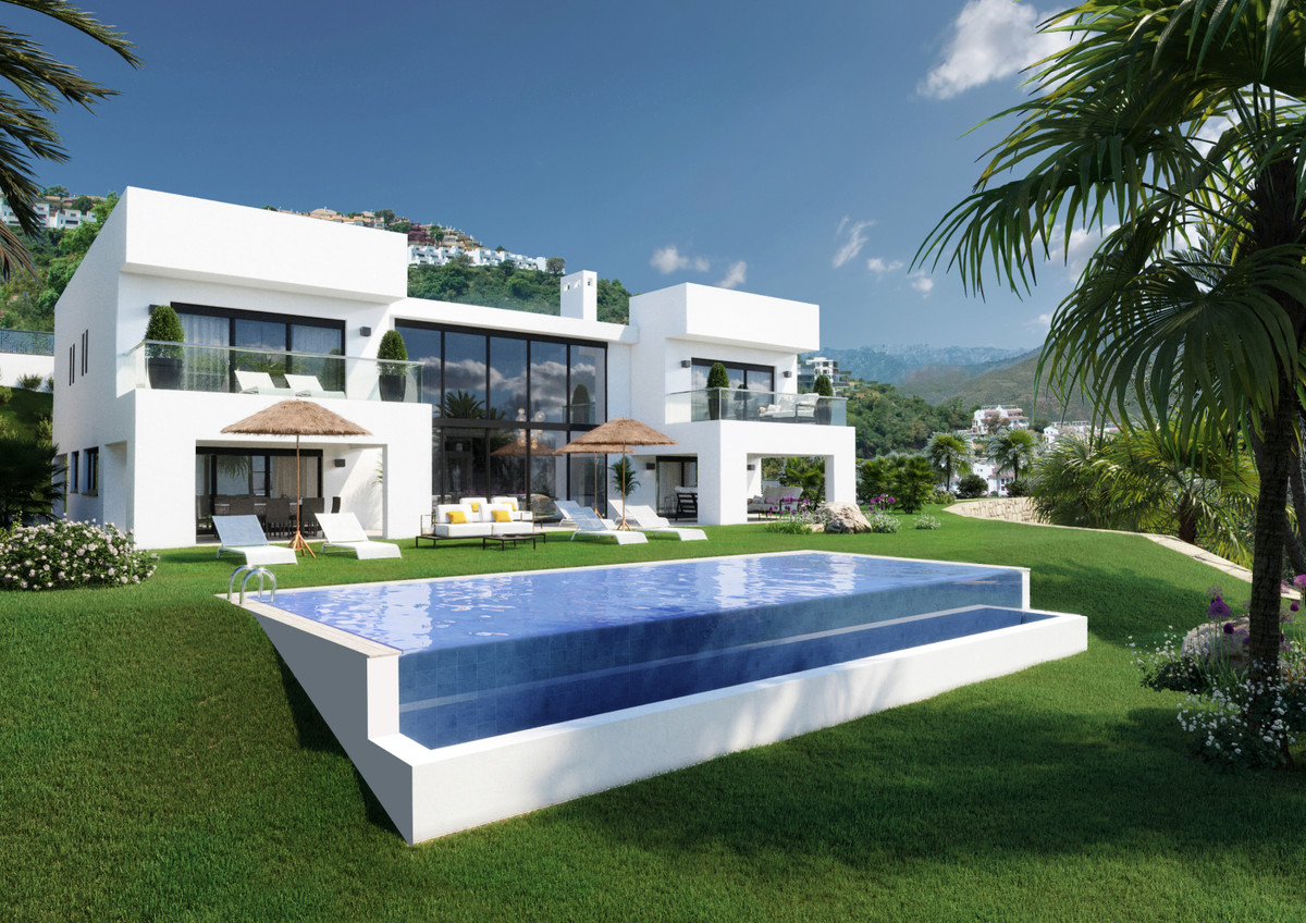 Spectacular modern villa on a plot with panoramic views with access to 2 streets. Consolidated area., Spain