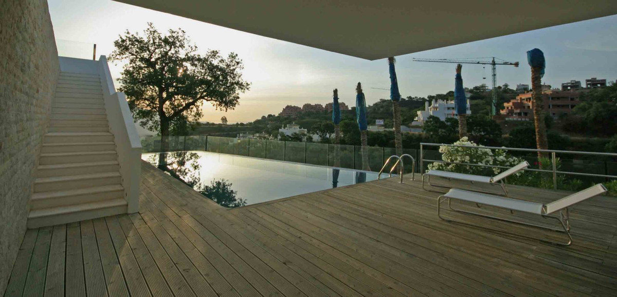 A spectacular contemporary residence nestled in a beautiful Mediterranean forest with views onto ope, Spain