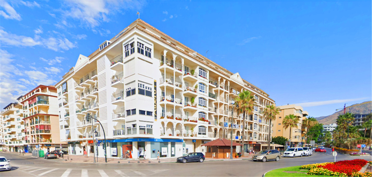 First beach line building: one of the most recognised buildings in Estepona Another facade of this b,Spain