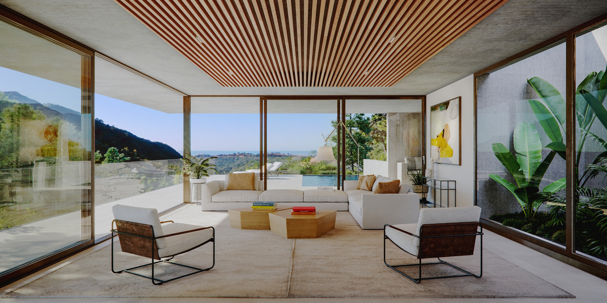 A new concept on the Coast, a hidden oasis ! The villa's sustainable and unique design allows t,Spain