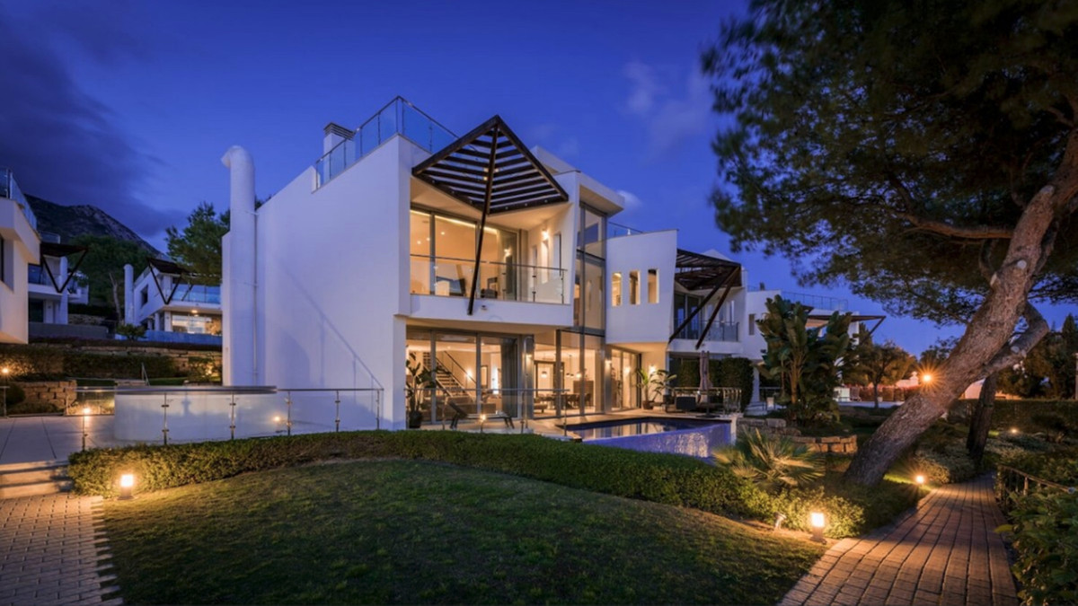 This contemporary modern-style home is very different from the rest of the villas on the Costa del S,Spain