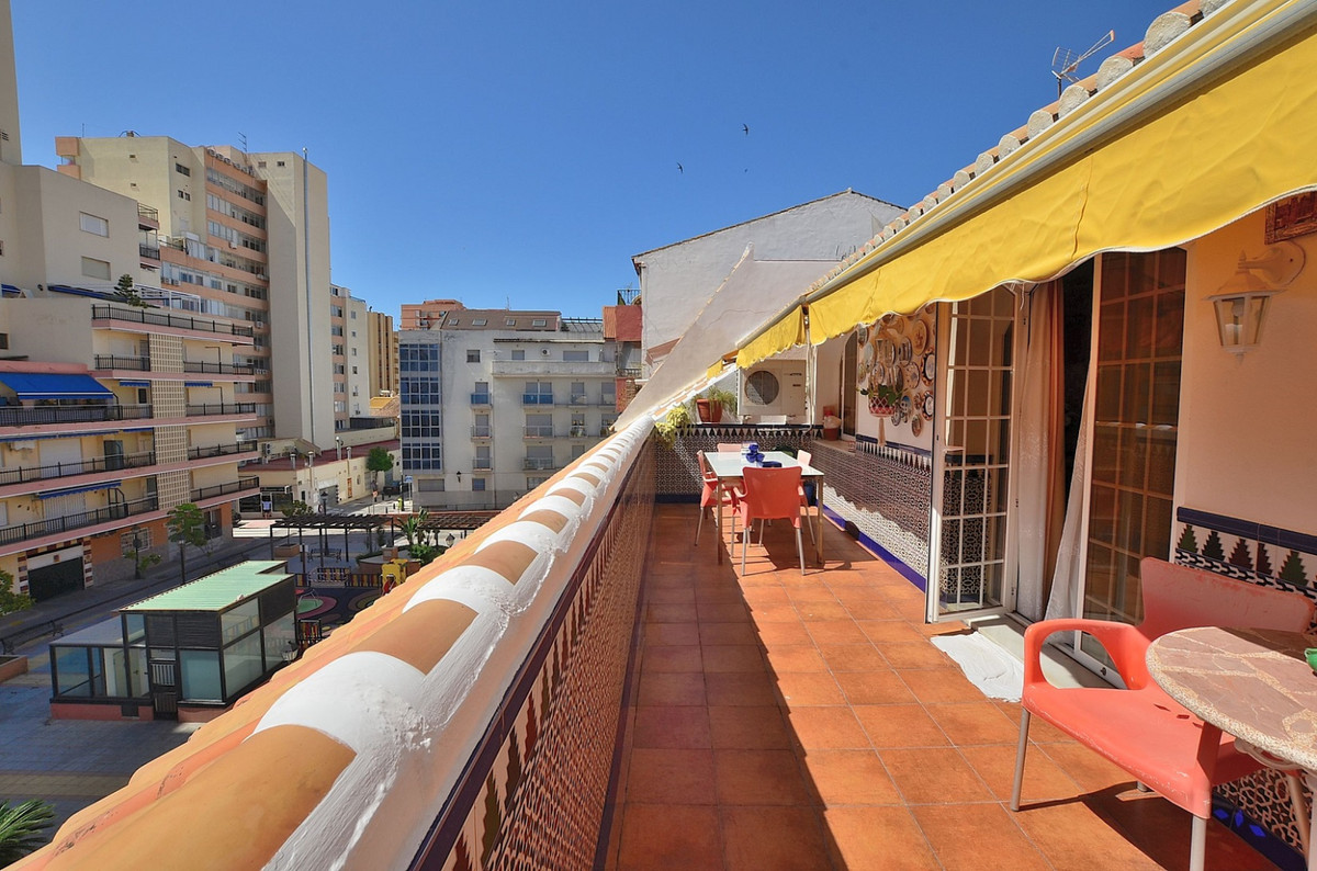 FANTASTIC ONE LEVEL PENTHOUSE located in Fuengirola just 50 METERS FROM THE BEACH.  3 TERRACES, 2 of,Spain