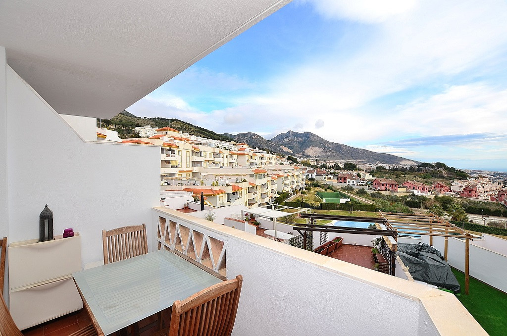 NICE APARTMENT WITH SEA VIEWS located in Benalmadena Pueblo. East facing terrace of 9 m2 with beauti,Spain