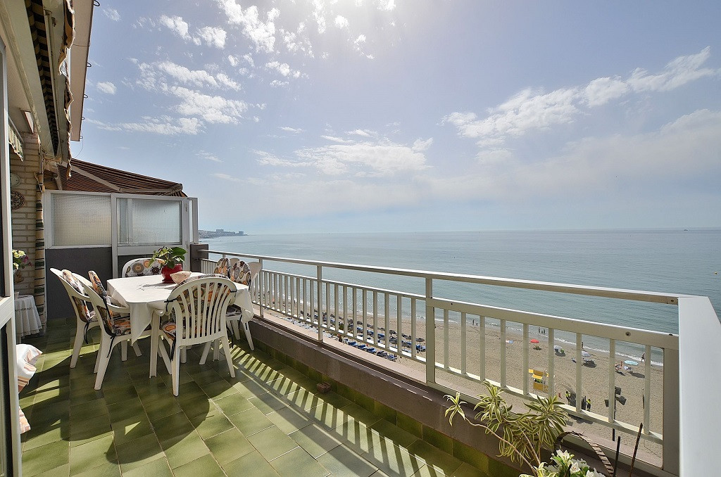 FRONT LINE BEACH APARTMENT WITH STUNNING SEA VIEWS located in Carvajal (Fuengirola). Large south fac,Spain