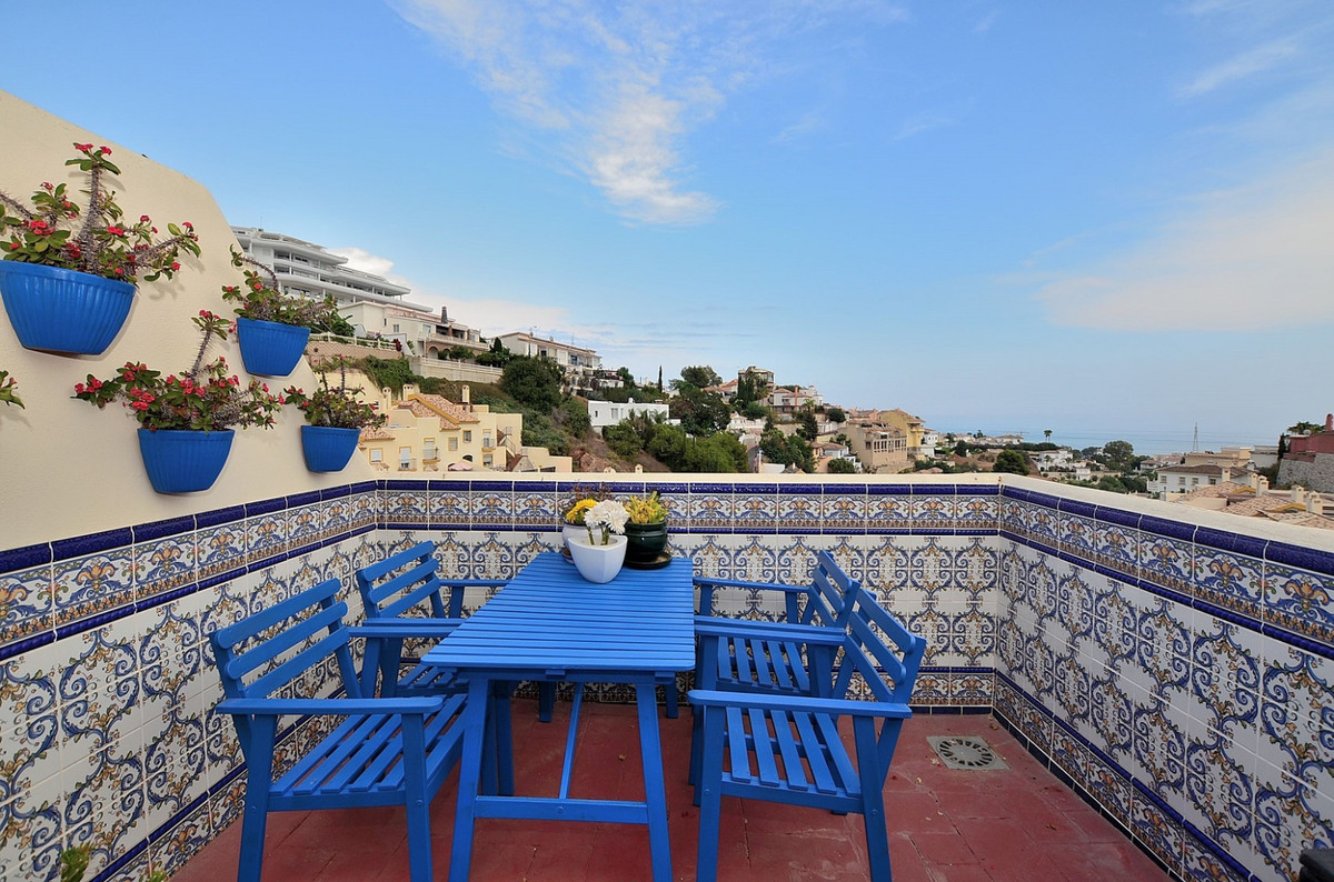 FANTASTIC TOWNHOUSE WITH NICE VIEWS located in the upper area of Torreblanca (Fuengirola).  The prop,Spain