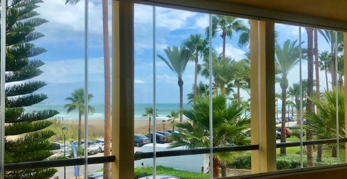 Stunning two bedroom front line beach apartment located in the luxurious setting of Puerto Sotogrand,Spain