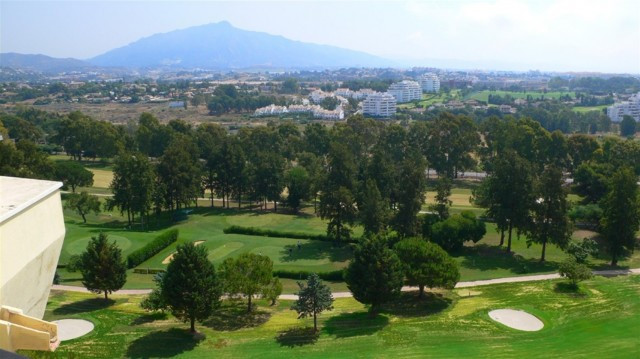 South facing frontline golf penthouse with spectacular open views towards Atalaya Golf, the mountain, Spain