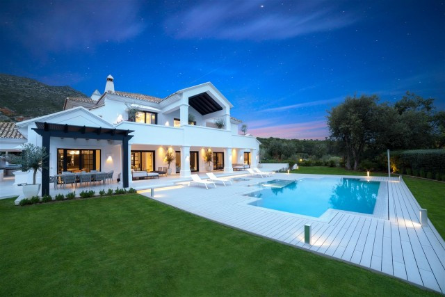 An exceptional villa for sale in Marbella Golden Mile. The beautiful home has 7 bedroom, 8 bathroom , Spain