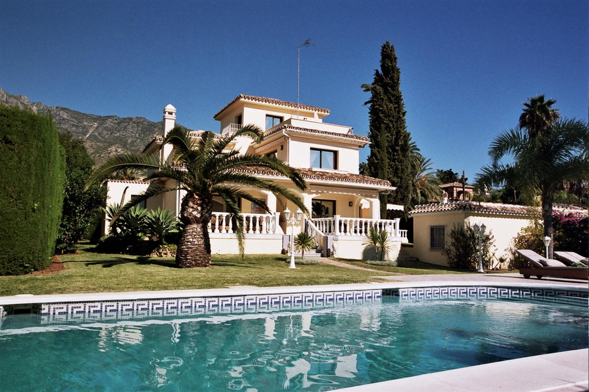 Exceptional south facing villa situated in a quiet residential area of Marbella, with good access to,Spain