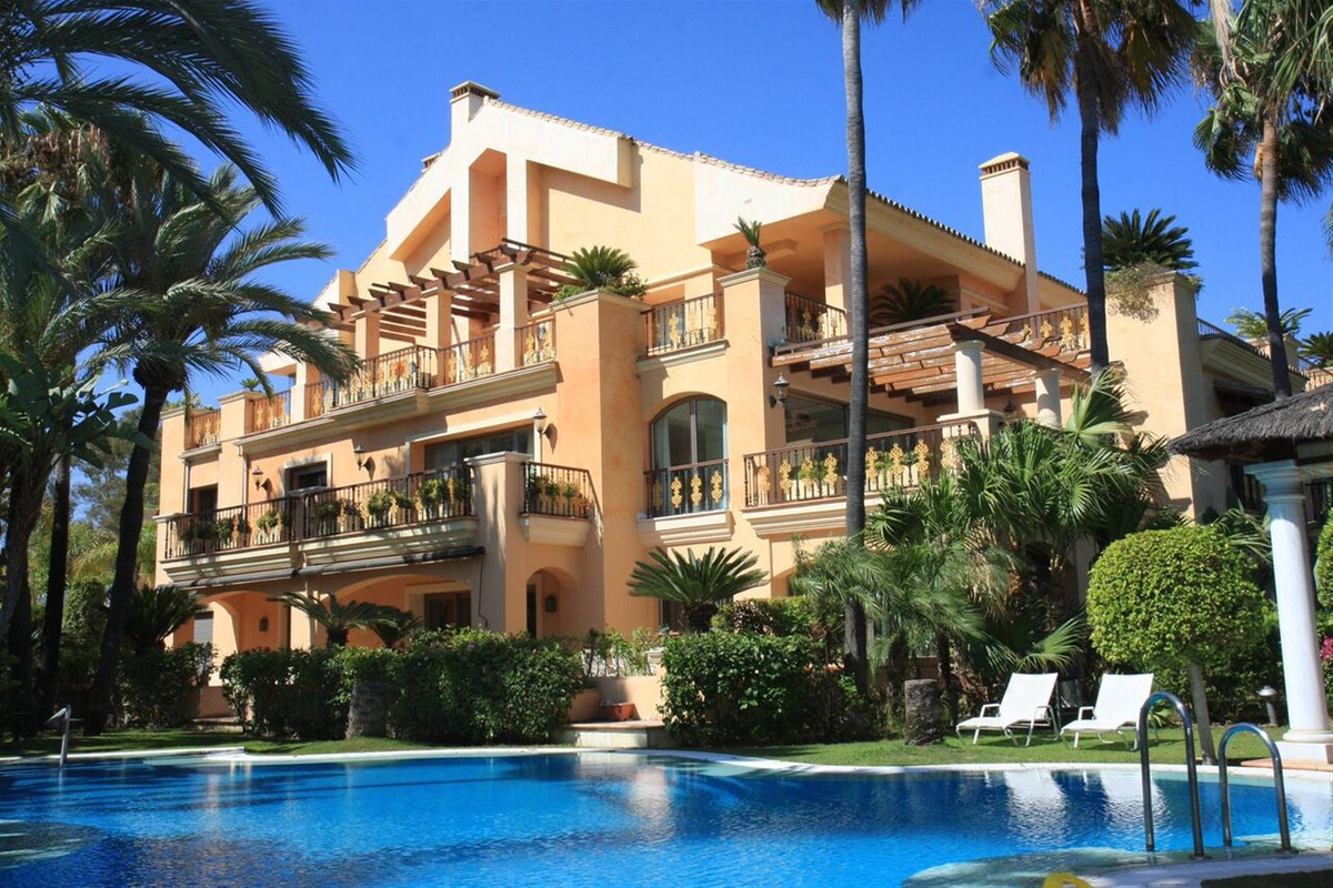 Luxury modern apartment for sale in a beachfront complex in Puerto Banus, Marbella. This elegant and, Spain