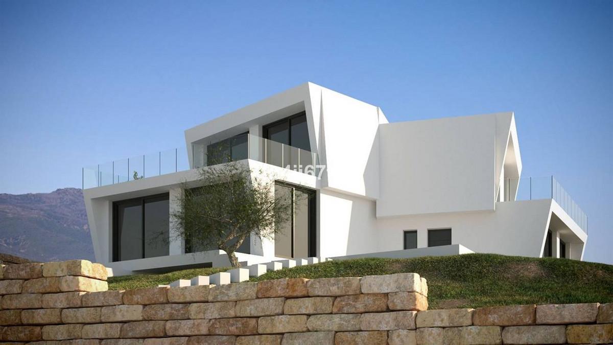 Villa already in construction, contemporary style, located in the Bay of Casares, 300 meters from th, Spain