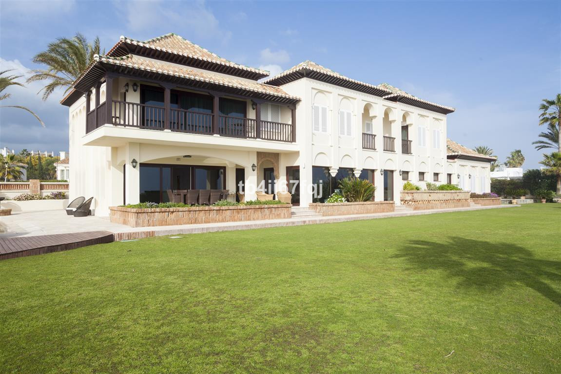 BEACH FRONT!  This luxury property is situated in a noble and select area of villas in one of the be,Spain