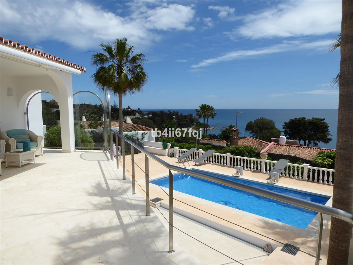 Andalusian villa with stunning panoramic sea view, over the Mediterranean, Gibraltar and Africa, rea, Spain