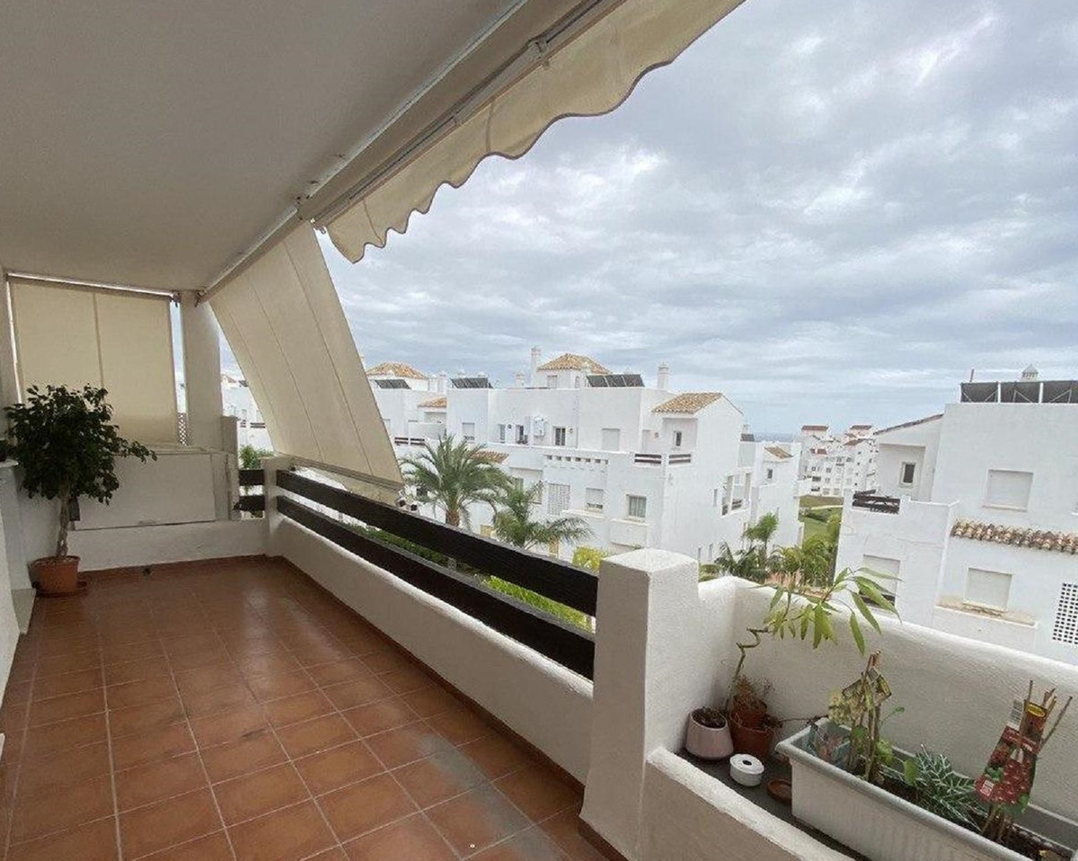 Beautiful and bright spacious apartment in Estepona. The very spacious living room with high ceiling, Spain