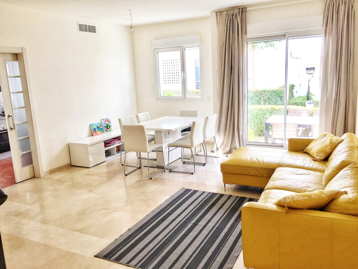 Beautiful and bright spacious apartment in Estepona The very spacious living room with high ceilings, Spain