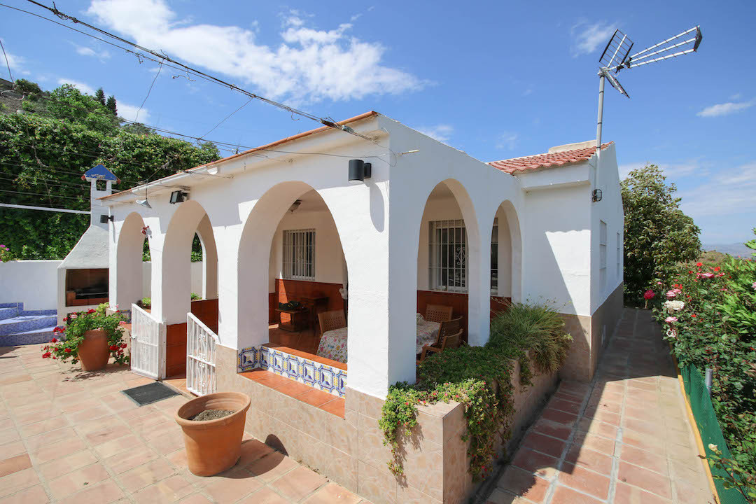 An Andalusian country finca in Coin.  White walls with blue accents, this is what andalucia should l,Spain