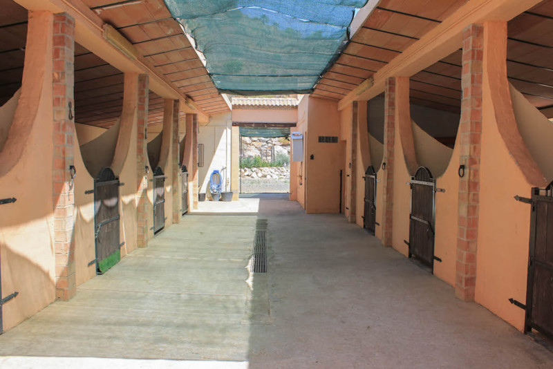 This modern property comprises of STABLES  FOR  10    HORSES, GROOMS  QUARTERS, feed room and Equipm,Spain
