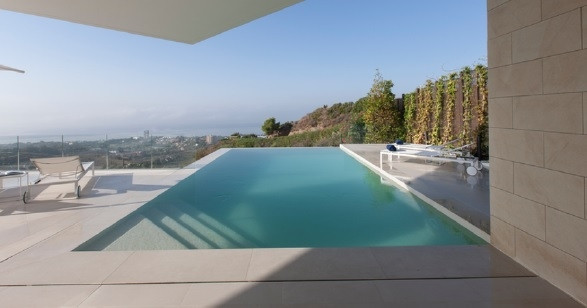Enjoy fantastic sea views from this new, very high quality villa, ready built above Marbella centre., Spain