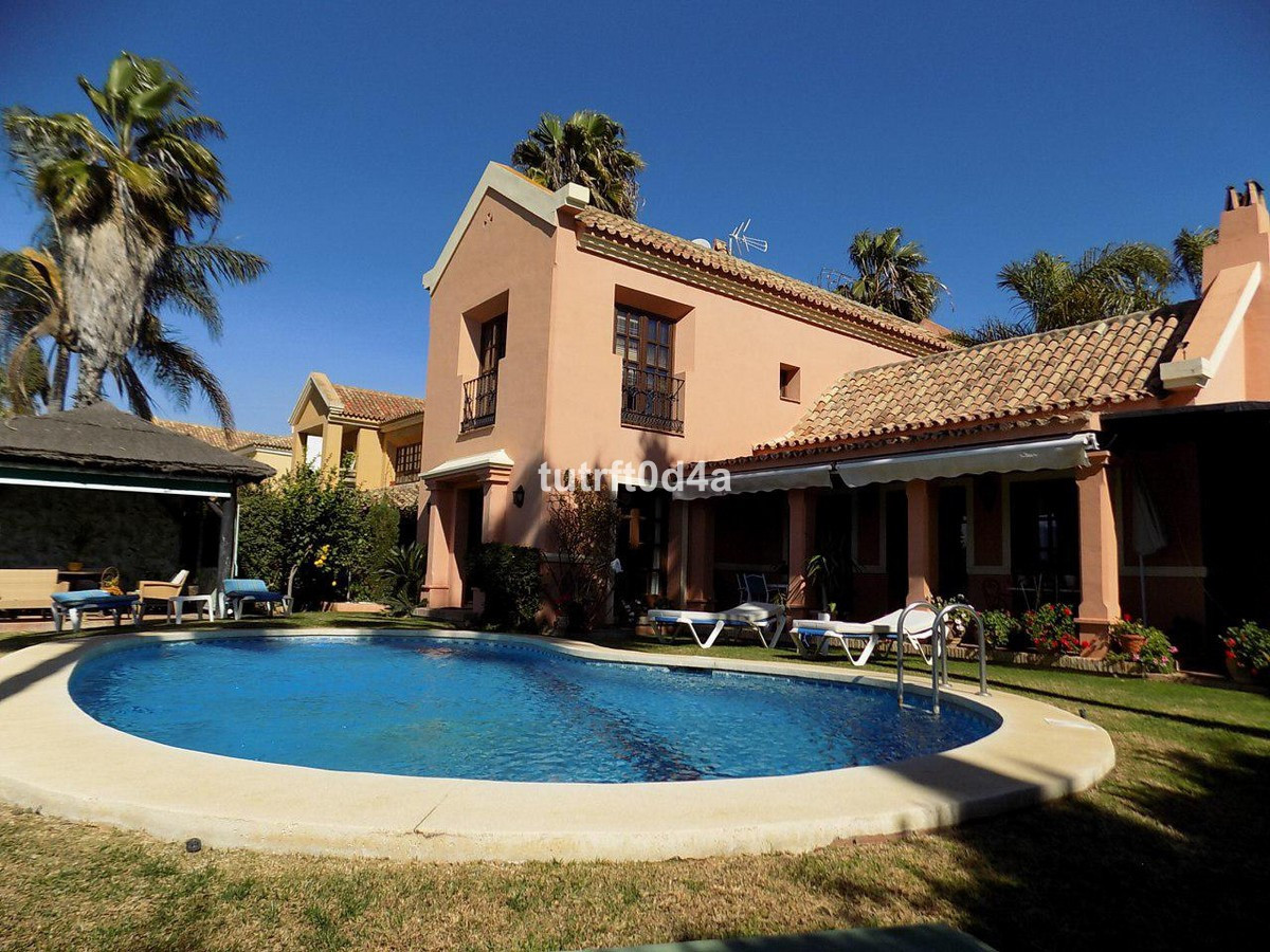 VILLA BEACH SIDE SAN PEDRO  A beautiful Andalusian style villa fresh on the market on the ever more , Spain