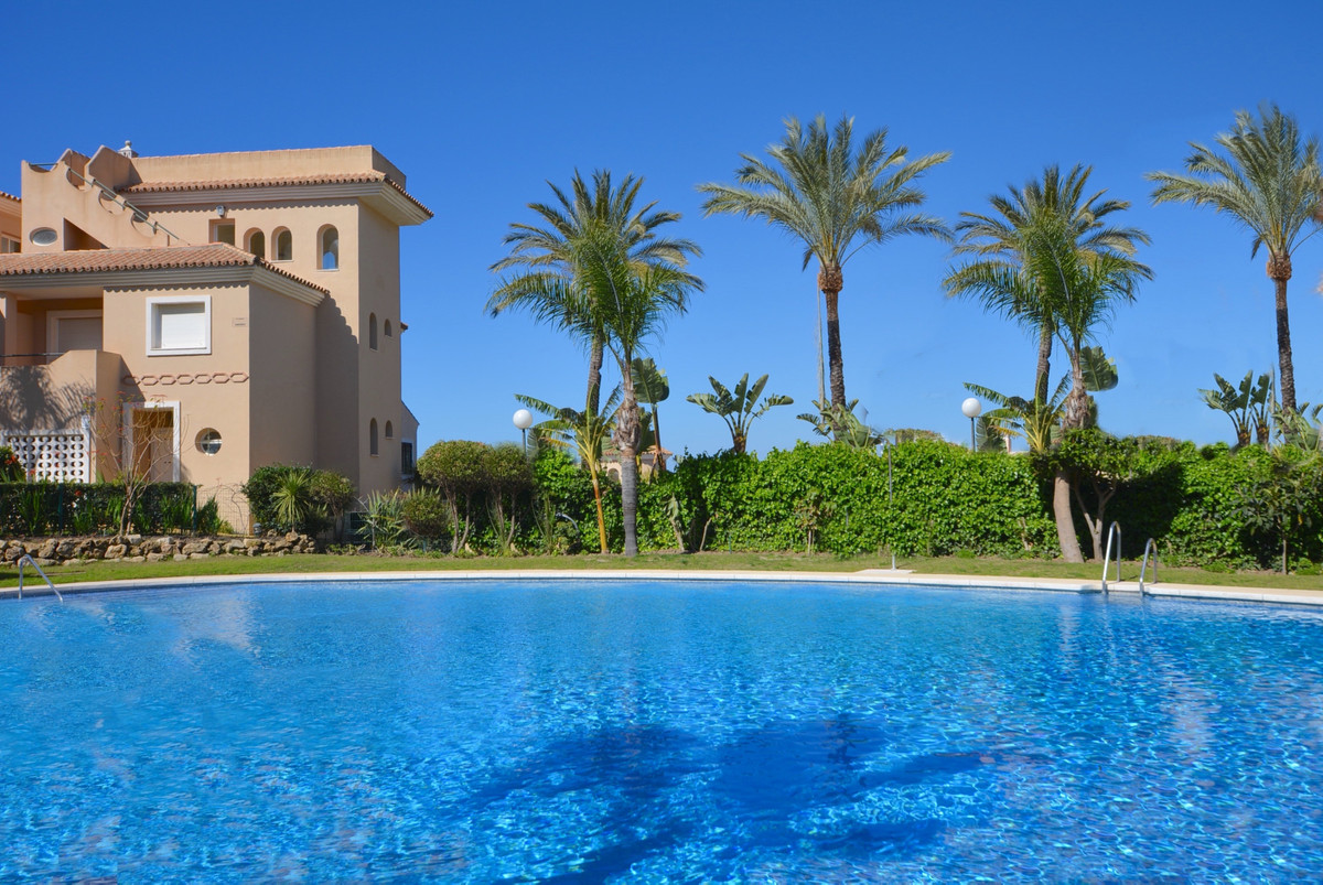 This 5 Bed Townhouse is located in an exclusive gated resort. Located on a stunning plot in Manilva , Spain