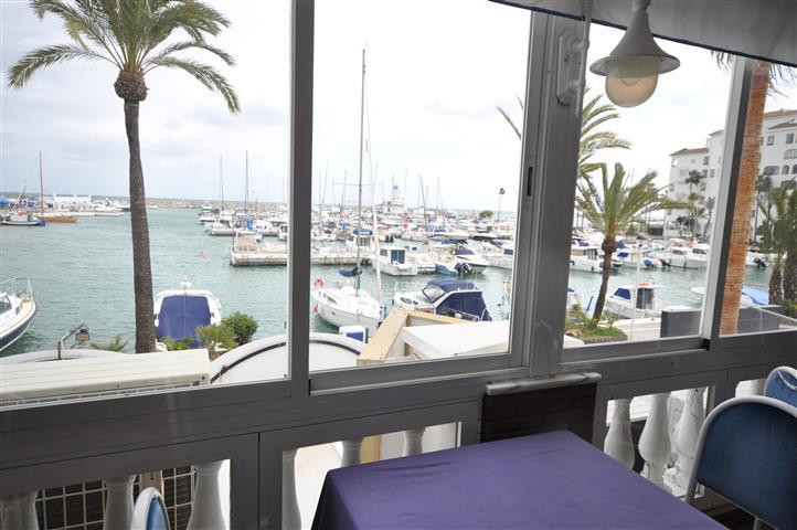 Lovely restaurant in the heart of Puerto de la Duquesa. Stunning views over the harbor and the sea. ,Spain