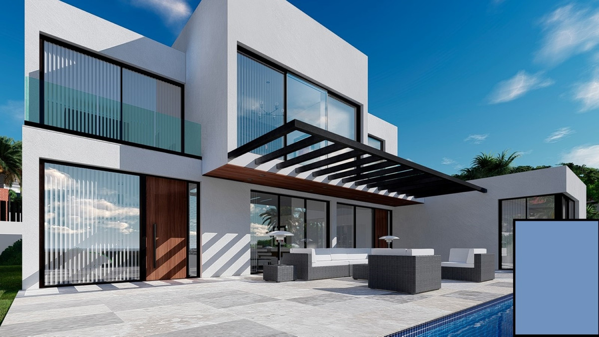 Project of an elegant and modern villa, located on elevated position in the Manilva area, 5 minutes , Spain