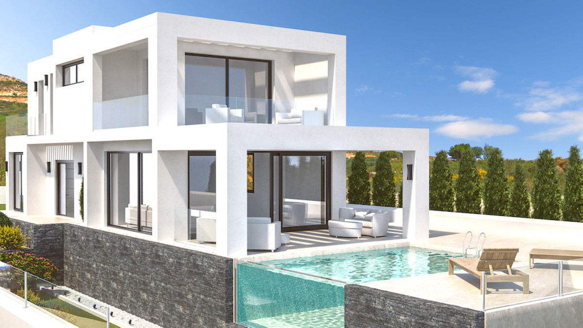 CORNER PLOT WITH PROJECT FOR CONTEMPORARY STYLE VILLA, This project of modern and fresh design, with Spain