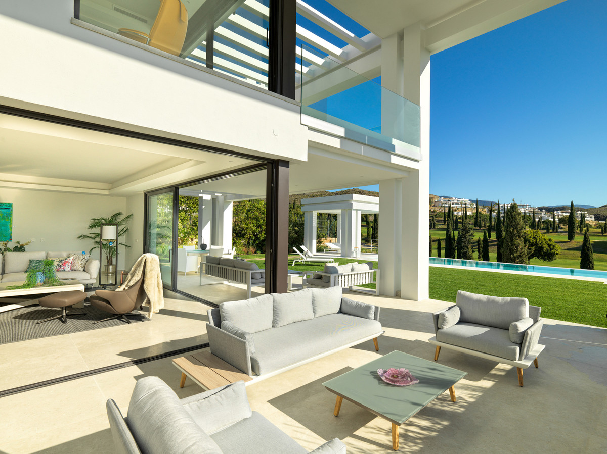 New Contemporary style Villa for sale with open views of the Flamingos Golf course and the hotel Vil,Spain