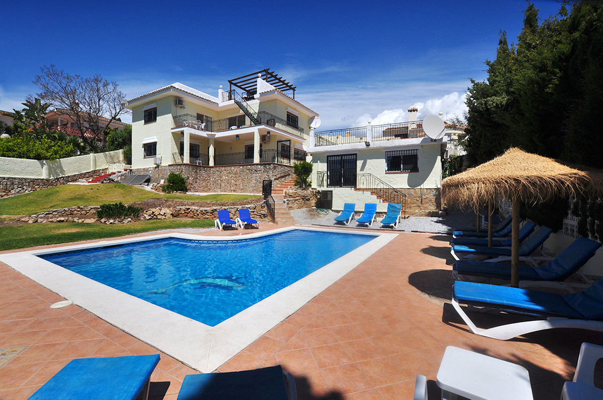 An impressive villa with panoramic sea views toward the Mediterranean Sea, with open plan living off,Spain