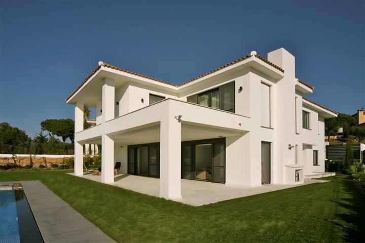 Modern contemporary villa already constructed in Cabopino. Situated on top of the hill with panorami, Spain