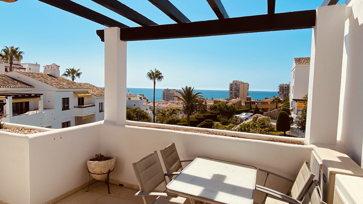 Superb location! Now on sale a top floor, 2 bedroom apartment in Pueblo Benito complex right near th, Spain