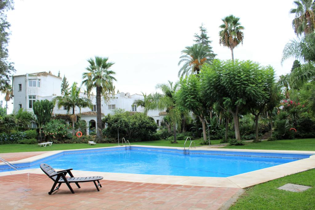 Spacious townhouse with terrace and garden in Mijas Golf. It has 3 bedrooms, 3 bathrooms, kitchen, l,Spain