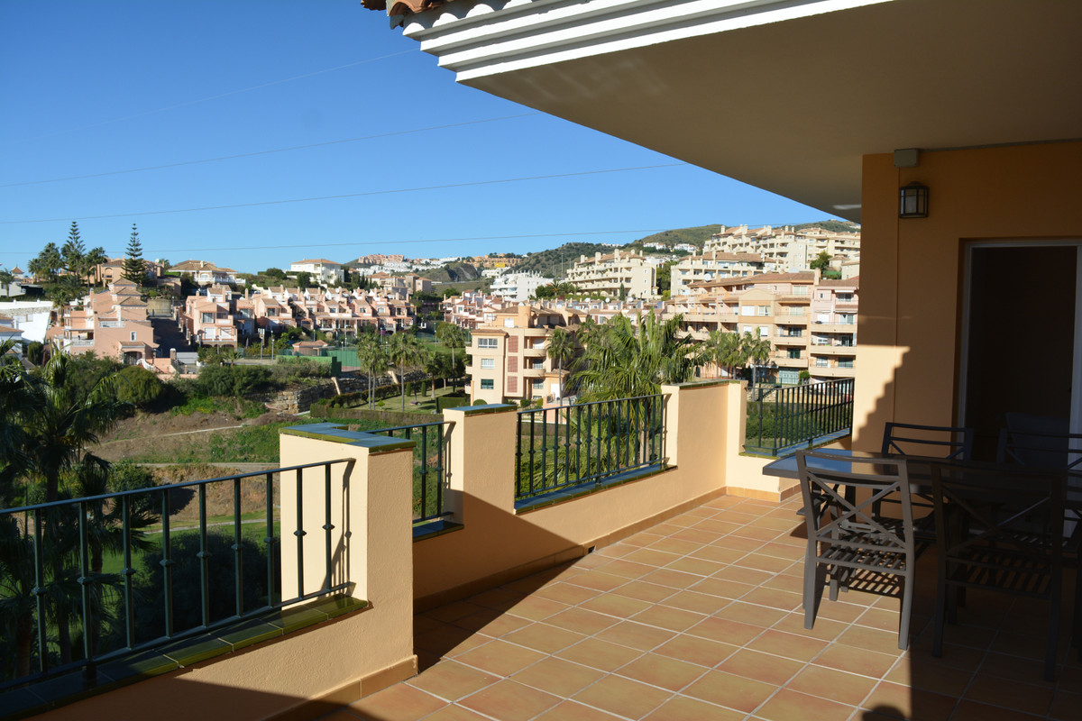 (067)  FOR SALE; Top floor apartment with spacious sunny terrace with Panoramic views of the Golf an,Spain