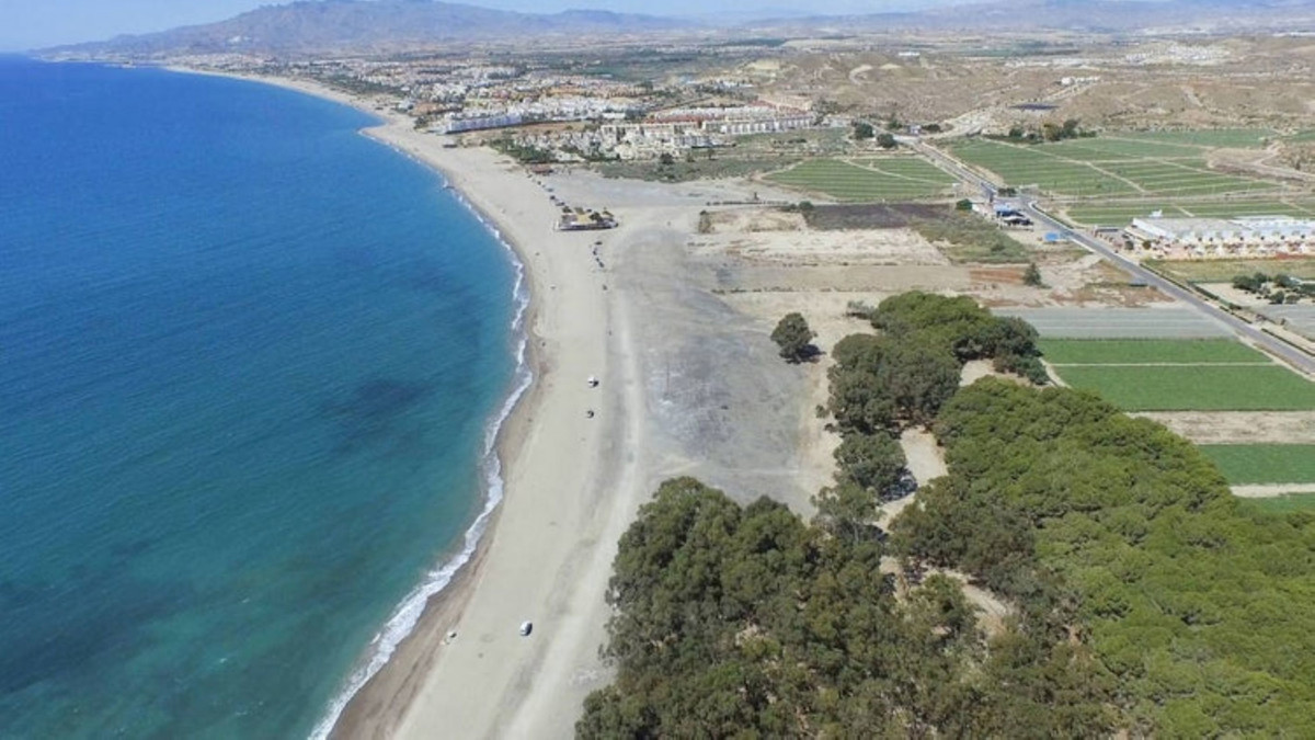 PLOT FIRST LINE !! 4000 m2 on the beachfront between Marbella and Estepona with project and license ,Spain