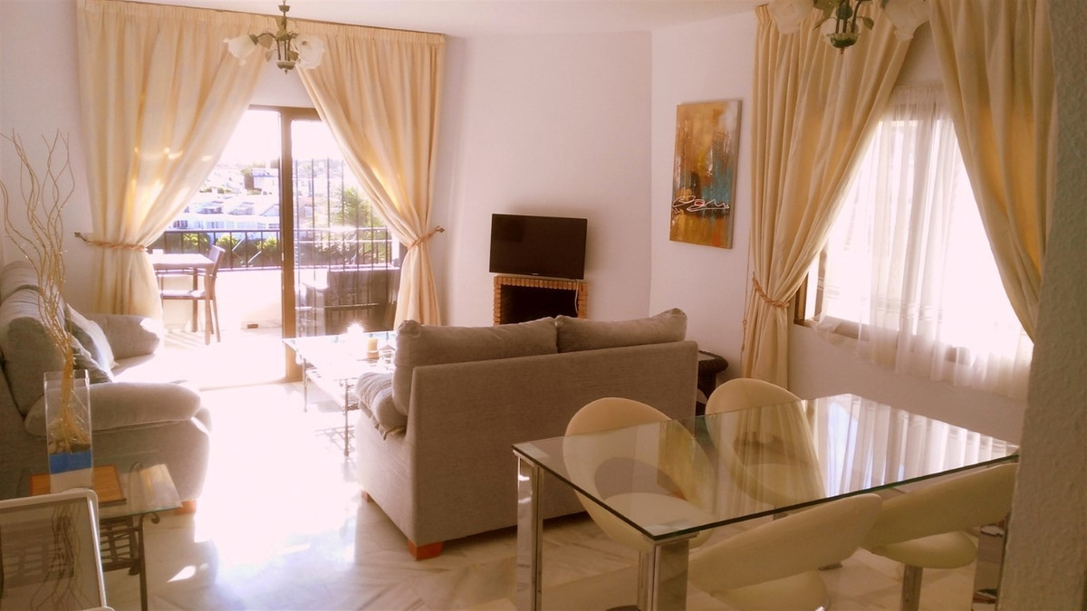 This bright and spacious apartment has fantastic south-west facing views over the Mediterranean Sea , Spain