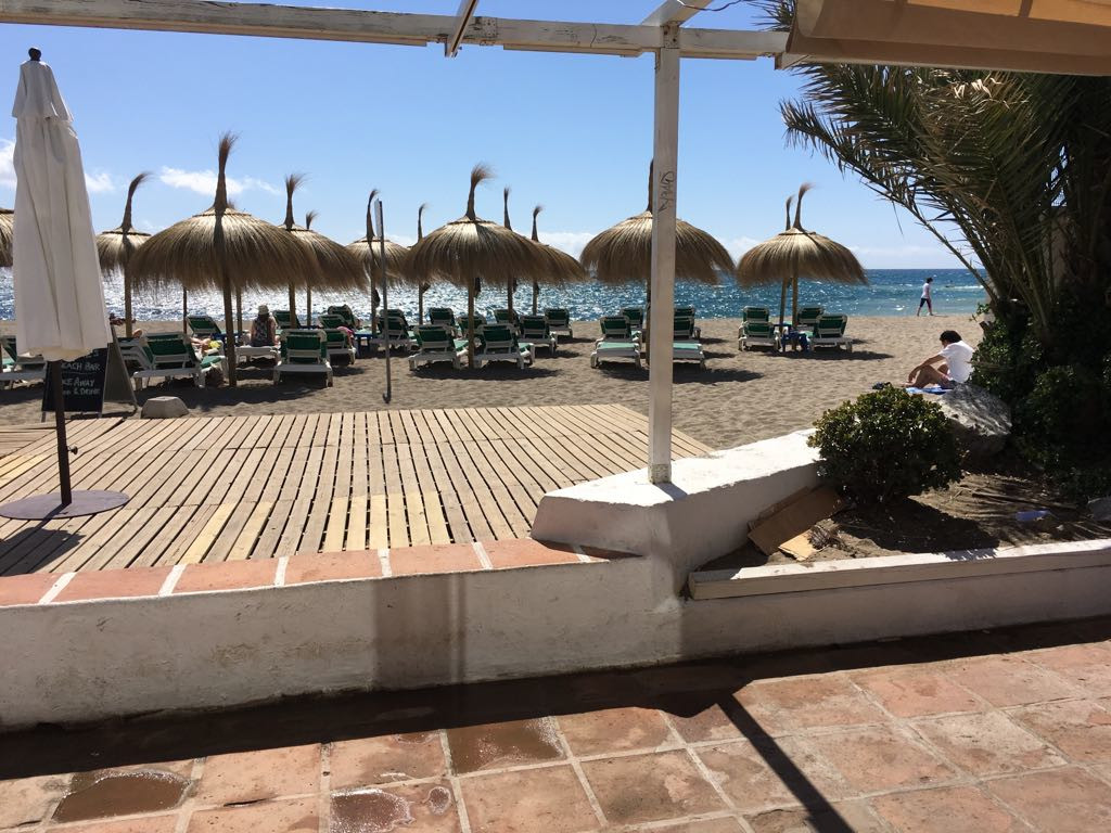 Bar, Marbella, Costa del Sol. Built 80 m², Terrace 40 m².  Setting : Beachfront, Commercial Area, Be, Spain