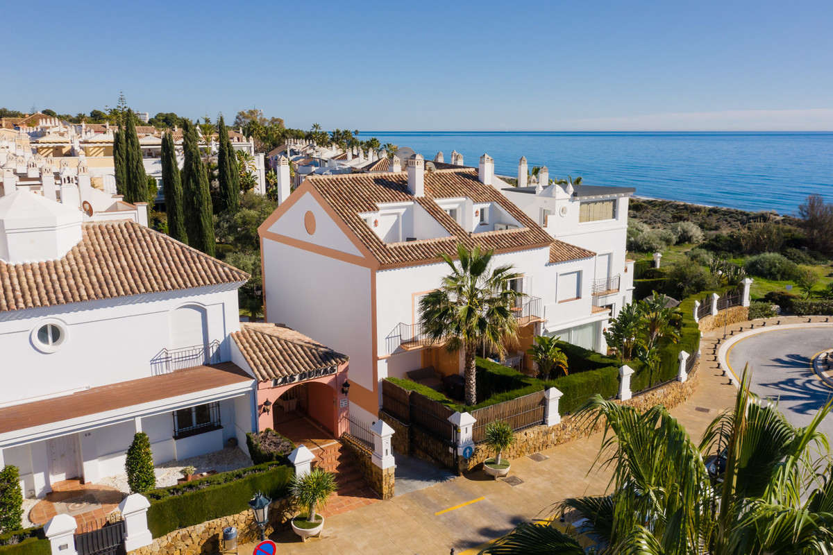 Lovely 3 bed townhouse first line to the beach in Bahia de Marbella now for sale!  The house itself , Spain